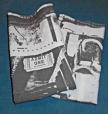 2 Rare Ralph Lauren Avant Garde Graphic Opera King Pillow Cases Black White
