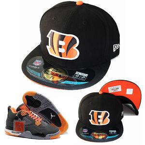 New Era Cincinnati Bengals 5950 Fitted Hat Nike Air Jordan 4 Retro ... 46e6ed2ef78