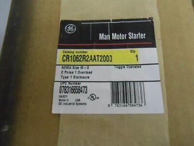 GE CR1062R2AAP2000 motor starter NEMA Size M-0 2 Pole type 1 NIB **