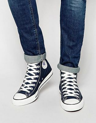 Mens Converse Shoes Navy All Star Chuck Taylor Hi Top Shoes Navy Blue M9622 | eBay