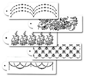 5Piece-Cake-Flower-decorating-Stencils-for-Airbrush-Paint-Icing-Frosting-Fondant
