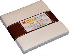 "Kona Solids White Charm Pack by Robert Kaufman 42 5"" Precut Cotton Quilt Squares"
