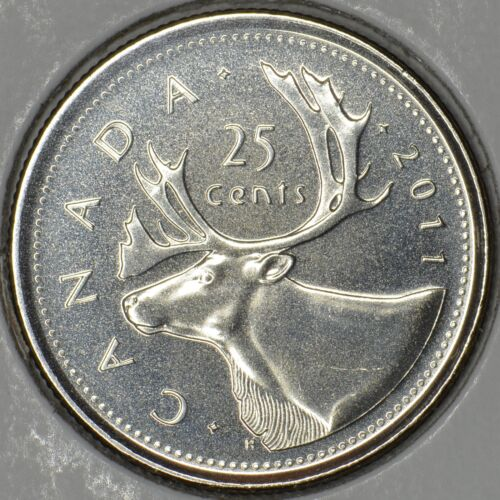 MS CANADA Lot of 2 x 25 cents 2011L