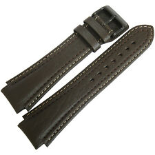 20mm Di-Modell Pilot Long Brown Leather PVD BUCKLE German-Made Watch Band Strap