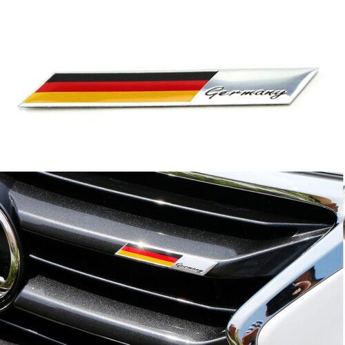 2x Plate Germany Flag Emblem Badge For Car Front Grille Side Fender Trunk Replac