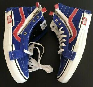 VANS-Skate-SK8-HI-Canvas-Leather-Zipper-Men-039-s-8-Shoes-Sneakers-NEW-NO-BOX-Blue