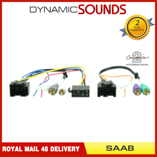 Ct20sa05 Active Amplified Stereo Bypass Wiring Harness Adaptor For Saab 9