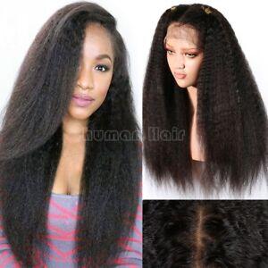Kinky-Straight-100-Remy-Brazilian-Human-Hair-Wigs-Lace-Front-Full-Lace-Wig-Yaki
