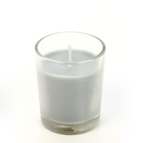 SET of 8 Clear Glass Filled Votive Candles  O4 Hosley Eucalyptus Mint