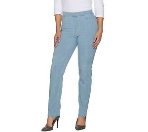 Isaac-Mizrahi-Women-039-s-Regular-24-7-Denim-Straight-Leg-Jeans-Indigo-Size-4-QVC