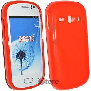 Cover-Custodia-Per-SAMSUNG-Galaxy-Fame-S6810-Rosso-Gel-Silicone-TPU-Pastello