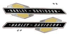 Harley - Davidson EMBLEMS with SCREWS for Gas Tank 1963 - 1965 Pan & Servi-Car