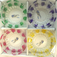 4 Colour Glass Round Ash Tray Ashtray for Restaurant/Home 1 or pack of 4