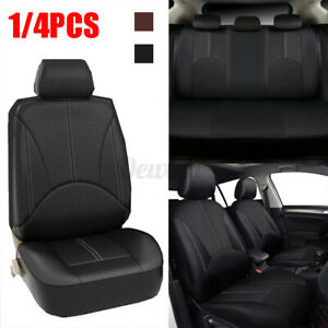 Single Car Seat Cover Washable Breathable PU Leather Front Seat Black Luxury t