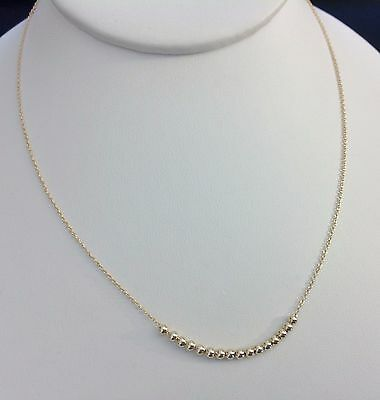 Sweet 16 Necklace-14 KT Gold Plated Sterling Silver .925-Sixteen Tiny Beads