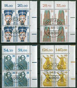 Bund-Nr-1398-1401-ERVB-Viererblock-gestempelt-EST-Vollstempel-Frankfurt-LUXUS