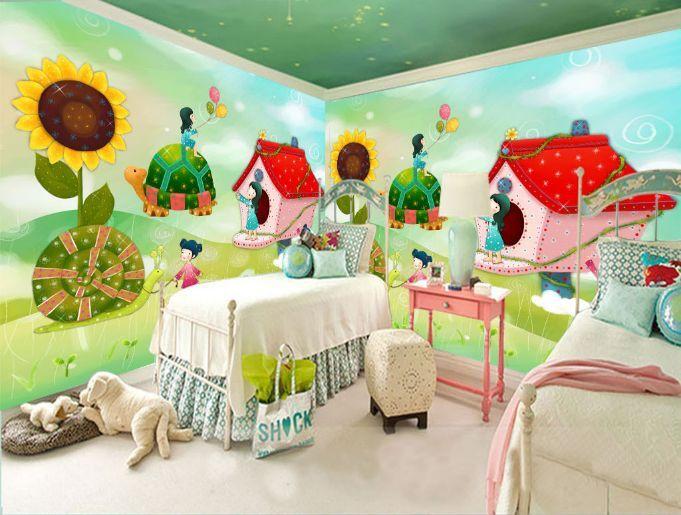 3D Mädchen Häuser 57245 Fototapeten Wandbild Fototapete BildTapete Familie DE