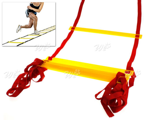 4m 8 Rung Training Agility Speed Ladder Set In//Outdoor Fitness Football Tools