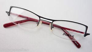 strukturelle Behinderungen preisreduziert online hier Details zu Brillengestell Frauen Brillen unten randlos schwarz-rot schmale  Gläser Grösse L