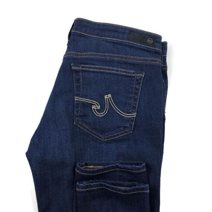 AG Adriano goldschmied Womens 31 R The Legging Super Skinny Dark Wash Jeans EUC