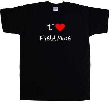 I Love Heart Field Mice T-Shirt