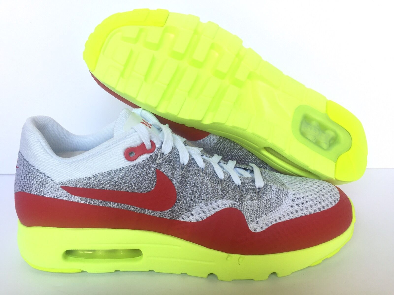 NIKE ID 3.26 AIR MAX WHITE/RED/NEON GREEN [ 940379-992 ] US MEN SZ 11.5