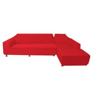 Strange Details About 2 3 Seater L Shaped Slipcover Recline Sofa Couch Covers Washable Furniture Red Uwap Interior Chair Design Uwaporg