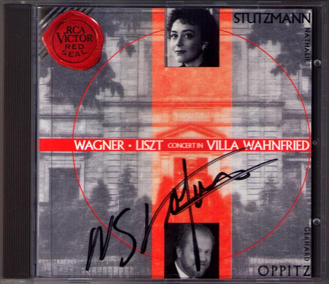 Nathalie STUTZMANN Signiert WAGNER in Villa Wahnfried LISZT Gerhard OPPITZ CD