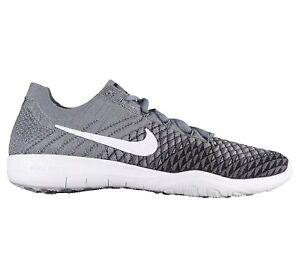 5cdc166cb28 Nike Free TR Flyknit 2 Womens Running Grey White Black 904658 007 ...