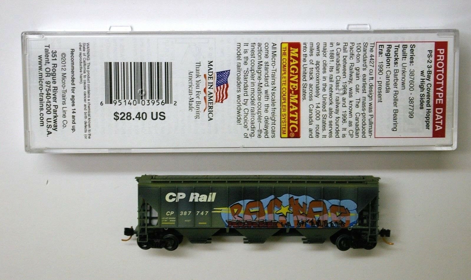 MTL Micro-Trains 96060 CP Rail CP 387747 FW Factory Weathered