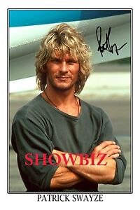 Image is loading PATRICK-SWAYZE-LARGE-SIGNED-AUTOGRAPH-POSTER-PHOTO-PRINT-