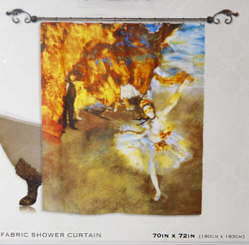 THE MUSEUM COLLECTION  Ballerina Dance Shower Curtain Fabric NEW Degas The Star
