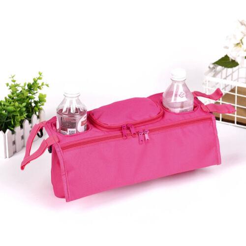 Baby Pram Stroller Buggy Storage Pushchair Bag Organizer Bottle Cup Pouch Holder