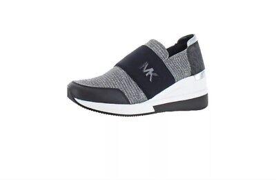 michael kors silver glitter sneakers