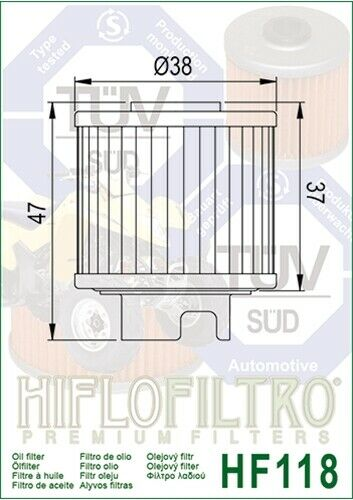 Hiflo Ölfilter HF 118 passend für Honda ATC TRX 125; CB 50 R