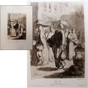 Honore-Daumier-la-rue-c1900-Heliogravure-Chauvet-maitres-dessin