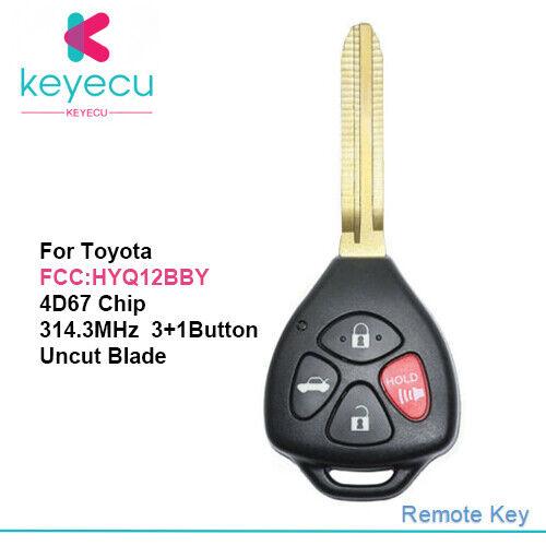 For 2007 2008 2009 2010 Toyota Camry Keyless Entry Remote Key Fob HYQ12BBY