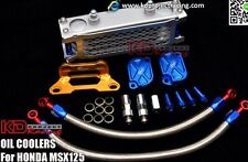 R RACING COMPLETE BOLT ON OIL COOLER KIT HONDA GROM MSX 125 ALUMINUM BRACKET