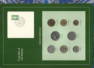 Coin-Sets-of-All-Nations-France-French-1969-1990-UNC-2-Francs-1981-1-Franc-1969