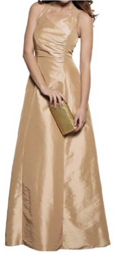 NEU  Abendkleid   Ballkleid, Neckholder, Gold, 38  q1209 1