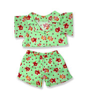 "Teddy bear print pyjamas pjs outfit teddy bear clothes fits 15"" Build a Bear"