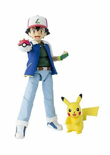 New S. H. Figuarts Pokemon Ash Ketchum  ABS & PVC painted action figure 5