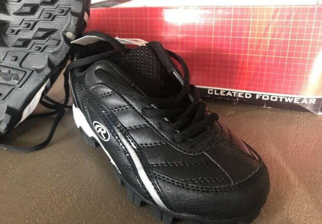 NEW IN BOX Rawlings Baseball Softball Soccer Cleats Black Size Boys/YTHS 12