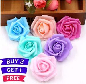 6-x-6-cm-Colourfast-Artificial-Foam-Without-Stem-Rose-Wedding-Craft-Flowers-Wedd
