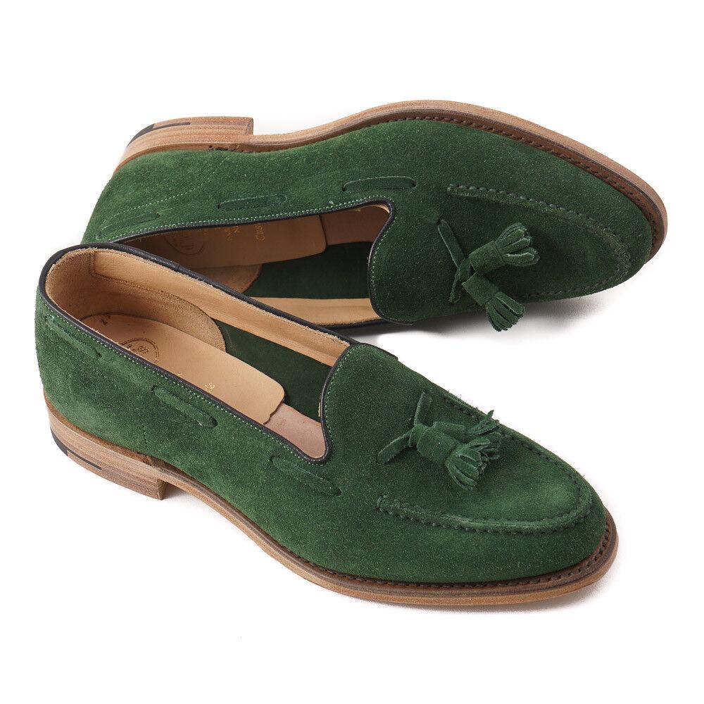 Nuevo En Caja  Church'S 'Fosbury' ante verde Mocasines Con Borlas US 8 () Zapatos