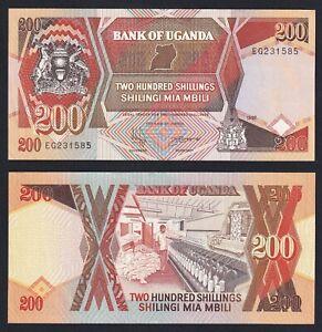 Uganda 200 Shillings 1997 Fds Unc- P32a B-04