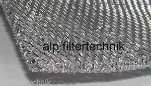 Metall fettfilter filtermatte m mm alu filter universal