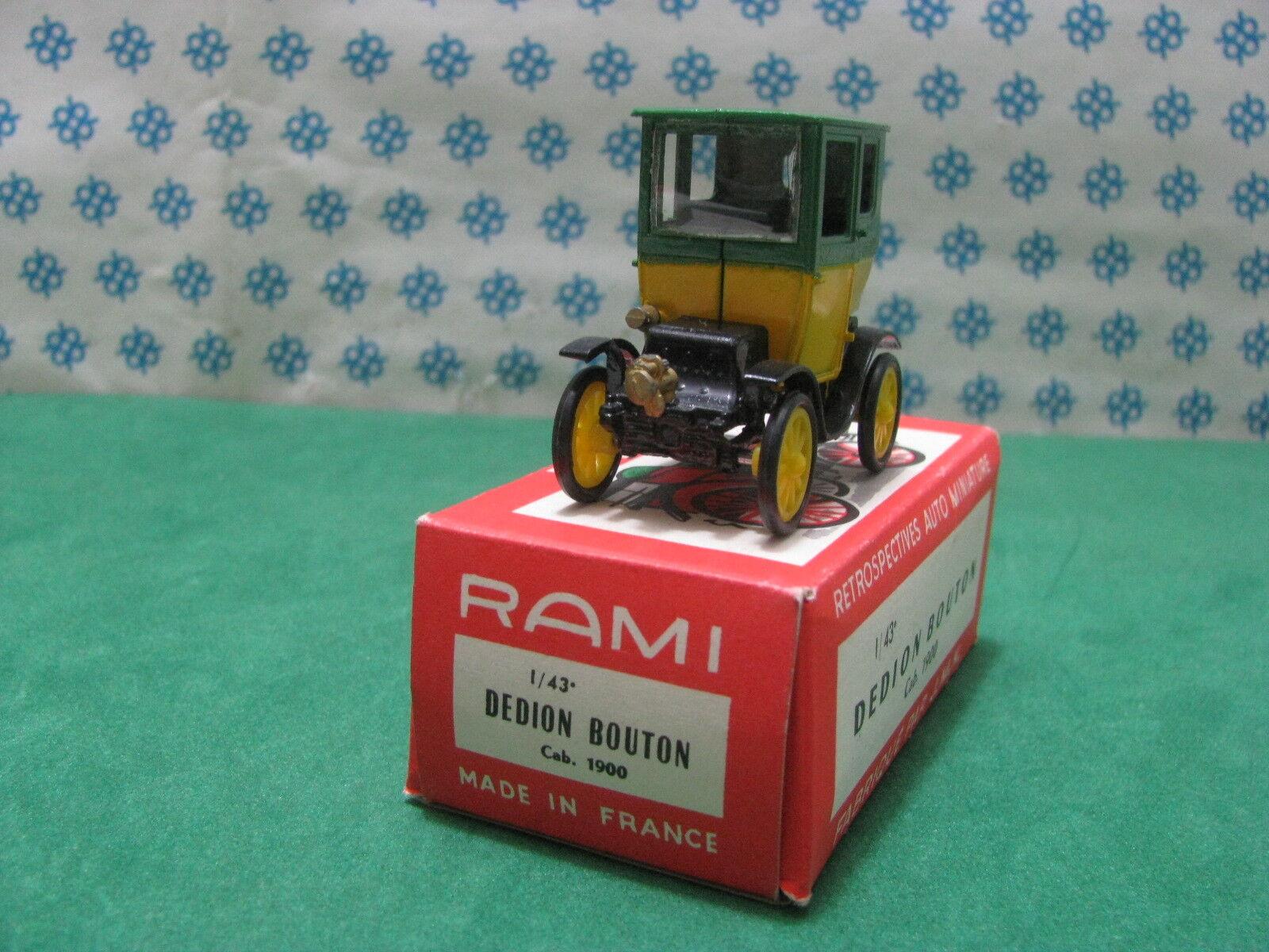 Vintage Rami   -  DEDION BOUTON cab. 1900   - 1 43  France
