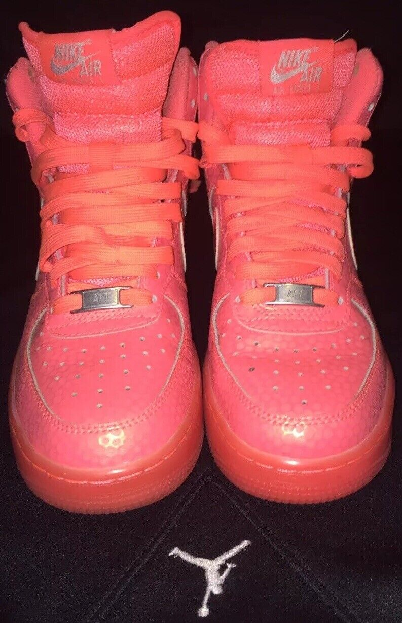 Nike Air Force 1 Hig Strap Premium Hot Lava Pink Sz 6.5 654440-800 2014 Release