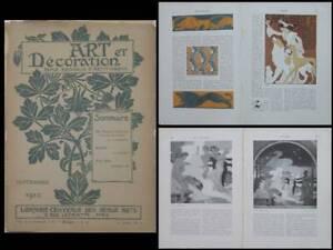 ART-ET-DECORATION-SEPTEMBRE-1910-ROUBILLE-FRITZ-ERLER-PILLARD-VERNEUIL